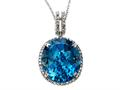 Genuine Blue Topaz Pendant Necklace by Effy Collection®