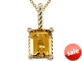 Genuine Citrine Pendant Necklace by Effy Collection® style: 520028