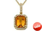 Genuine Citrine Pendant Necklace by Effy Collection® style: 520031