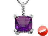 Genuine Amethyst Pendant Necklace by Effy Collection® style: 520047