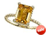 Genuine Citrine 9x7mm Ring by Effy Collection® style: 520076