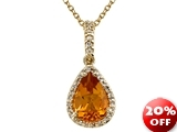 Genuine Citrine Pendant Necklace by Effy Collection® style: 520091