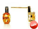 Effy Collection 14k Yellow Gold Citrine Earrings style: 520226