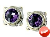 Balissima By Effy Collection Sterling Silver and 18k Yellow Gold Amethyst Earrings style: 520228