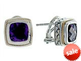 Balissima By Effy Collection Sterling Silver and 18k Yellow Gold Amethyst Earrings style: 520240