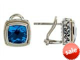 Balissima By Effy Collection Sterling Silver and 18k Yellow Gold Blue Topaz Earrings style: 520241