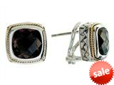 Balissima By Effy Collection Sterling Silver and 18k Yellow Gold Smoky Quartz Earrings style: 520242