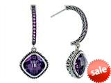 Balissima By Effy Collection Sterling Silver Amethyst and Pink Sapphire Earrings style: 520251