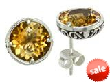 Balissima By Effy Collection Sterling Silver Citrine Earrings style: 520259