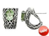 Balissima By Effy Collection Sterling Silver Green Amethyst Earrings style: 520266A