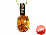 Effy Collection 14k Yellow Gold Citrine Pendant Necklace style: 520283