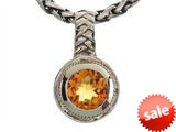Balissima By Effy Collection Sterling Silver and 18k Yellow Gold Citrine Pendant Necklace style: 520289