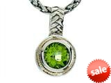 Balissima By Effy Collection Sterling Silver and 18k Yellow Gold Peridot Pendant Necklace style: 520291