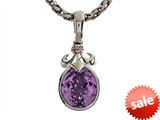 Balissima By Effy Collection Sterling Silver and 18k Yellow Gold Fleur de Lis Amethyst Pendant Necklace style: 520306