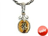Balissima By Effy Collection Sterling Silver and 18k Yellow Gold Fleur de Lis Citrine Pendant Necklace style: 520308