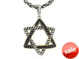 Balissima By Effy Collection Sterling Silver and 18k Yellow Gold Sapphire Star of David Pendant Necklace style: 520309