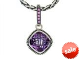 Balissima By Effy Collection Sterling Silver Amethyst and Pink Sapphire Pendant style: 520315