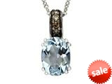 Effy Collection 14k White Gold Aquamarine Pendant Necklace style: 520324