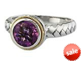 Balissima By Effy Collection Sterling Silver and 18k Yellow Gold Amethyst Ring style: 520326