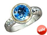 Balissima By Effy Collection Sterling Silver and 18k Yellow Gold Blue Topaz Ring style: 520327