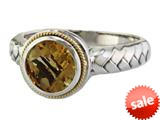 Balissima By Effy Collection Sterling Silver and 18k Yellow Gold Citrine Ring style: 520329