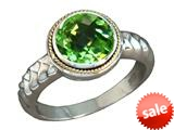 Balissima By Effy Collection Sterling Silver and 18k Yellow Gold Peridot Ring style: 520331