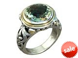 Balissima By Effy Collection Sterling Silver and 18k Yellow Gold Green Amethyst Ring style: 520333