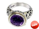 Balissima By Effy Collection Sterling Silver and 18k Yellow Gold Amethyst Ring style: 520334