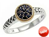 Balissima By Effy Collection Sterling Silver and 18k Yellow Gold Sapphire Ring style: 520339