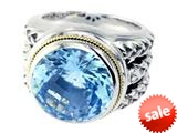 Balissima By Effy Collection Sterling Silver and 18k Yellow Gold Blue Topaz Ring style: 520342