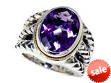 Balissima By Effy Collection Sterling Silver and 18k Yellow Gold Amethyst Ring style: 520346