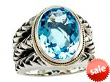 Balissima By Effy Collection Sterling Silver and 18k Yellow Gold Blue Topaz Ring style: 520347