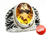 Balissima By Effy Collection Sterling Silver and 18k Yellow Gold Citrine Ring style: 520349