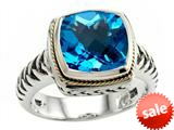 Balissima By Effy Collection Sterling Silver and 18k Yellow Gold Blue Topaz Ring style: 520353
