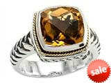 Balissima By Effy Collection Sterling Silver and 18k Yellow Gold Citrine Ring style: 520355
