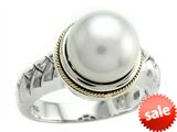 Balissima By Effy Collection Sterling Silver and 18k Freshwater Cultured Pearl Ring style: 520356
