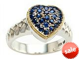 Balissima By Effy Collection Sterling Silver and 18k Yellow Gold Sapphire Ring style: 520357