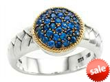 Balissima By Effy Collection Sterling Silver and 18k Yellow Gold Sapphire Ring style: 520358