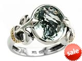 Balissima By Effy Collection Sterling Silver and 18k Yellow Gold Green Amethyst Ring style: 520361CD