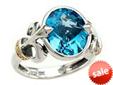 Balissima By Effy Collection Sterling Silver and 18k Yellow Gold Blue Topaz Ring style: 520363