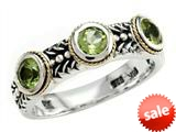 Balissima By Effy Collection Sterling Silver and 18k Yellow Gold Peridot Ring style: 520370