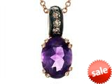 Effy Collection 14k Rose Gold Amethyst Pendant style: 520395