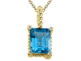 Genuine Blue Topaz Pendant Necklace by Effy Collection® style: 520025