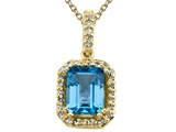 Genuine Blue Topaz Pendant by Effy Collection® style: 520033