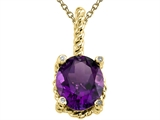 Genuine Amethyst Pendant Necklace by Effy Collection® style: 520038