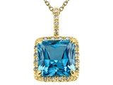 Genuine Blue Topaz Pendant by Effy Collection® style: 520041
