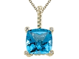 Genuine Blue Topaz Pendant by Effy Collection® style: 520045