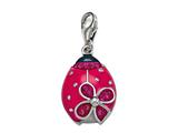 Pink and Black Enamel Ladybug Charm for Charm Braclelet or Smartphone using our Smartphone Plug style: BPC1364