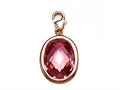 October Simulated Oval Shape Birthstone Charm for Charm Braclelet or Smartphone using our Smartphone Plug Adaptor