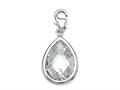 April Simulated Birthstone Pear Shape Charm for Charm Braclelet or Smartphone using our Smartphone Plug Adaptor